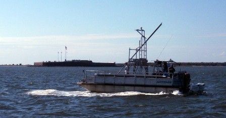 RV Artemis transiting Charleston Harbor